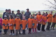 Děti zčejetického střeleckého kroužku přinástupu