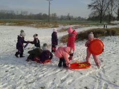 lednové hrátky ve třídě i v přírodě
